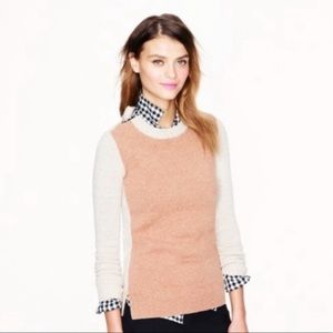 J.  Crew Color Block Double zip Sweater